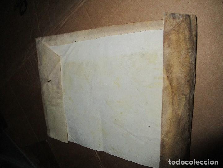 Libros antiguos: antiguo pergamino suelto paRte de cubierta siglo xviii - Foto 5 - 153283734