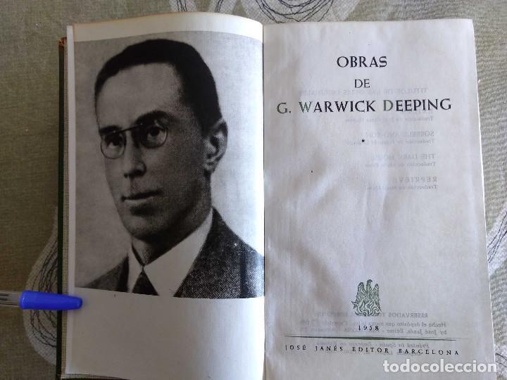 OBRAS DE G. WARWICK DEEPING.TOMO I, 1586 PAGINAS,PAPEL BIBLIA, PIEL,JANES 1958. (Libros Antiguos, Raros y Curiosos - Pensamiento - Otros)