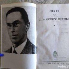 Libros antiguos: OBRAS DE G. WARWICK DEEPING.TOMO I, 1586 PAGINAS,PAPEL BIBLIA, PIEL,JANES 1958. . Lote 153313134