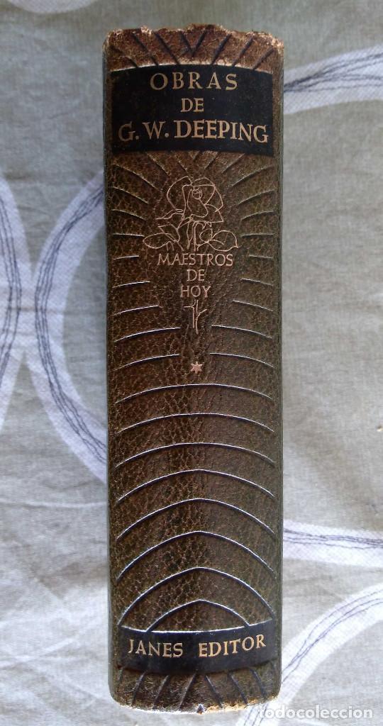 Libros antiguos: OBRAS DE G. WARWICK DEEPING.TOMO I, 1586 PAGINAS,PAPEL BIBLIA, PIEL,JANES 1958. - Foto 2 - 153313134