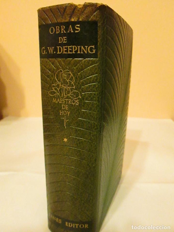 Libros antiguos: OBRAS DE G. WARWICK DEEPING.TOMO I, 1586 PAGINAS,PAPEL BIBLIA, PIEL,JANES 1958. - Foto 3 - 153313134