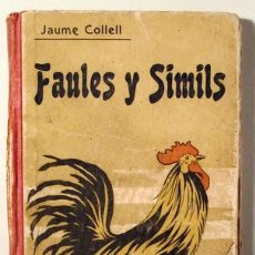 Libros antiguos: COLLELL, JAUME, MN. - UTRILLO - FAULES I SÍMILS - BARCELONA 1904. Lote 153324860