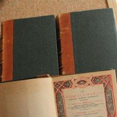 Libros antiguos: LA CIENCIA ESPAÑOLA. (POLÉMICAS, PROYECTOS Y BIBLIOGRAFÍA). TERCERA EDICIÓN, REFUNDIDA Y AUMENTADA. . Lote 153333838