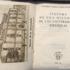 Libros antiguos: CRISOL NUM 74 - SAINZ DE ROBLES - ESQUEMA DE UNA HISTORIA DE LAS UNIVERSIDADES ESPAÑOLAS. Lote 153347362