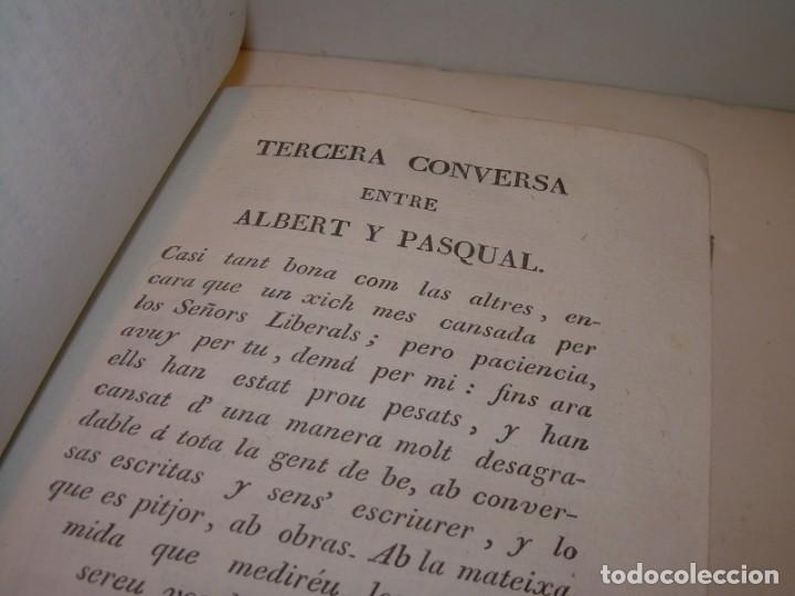 Libros antiguos: ANTIGUO LIBRO DE PERGAMINO...AÑO 1830..QUATRE CONVERSAS ENTRE DOS PERSONATGES. - Foto 6 - 153348758