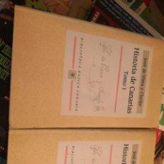 Libros antiguos: 2 LIBROS JOSE DE VIERA Y CLAVIJO.HISTORIA DE CANARIAS TOMOS I Y II. 1991. BIBLIOTECA BÁSICA CANARIA. Lote 153360310