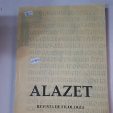 Libri antichi: ALAZET - REVISTA DE FILOLOGIA Nº13. Lote 237029080