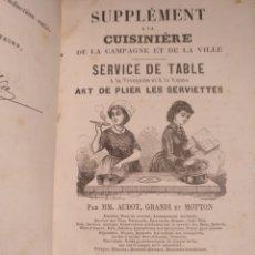 Libros antiguos: 1880. LIBRO DE COCINA. Lote 153441892