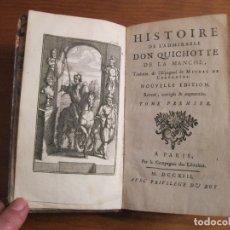 Libros antiguos: HISTOIRE DE L ADMIRABLE DON QUICHOTTE DE LA MANCHE, 1713. M. DE CERVANTES. POSEE NUMEROSOS GRABADOS. Lote 153443957