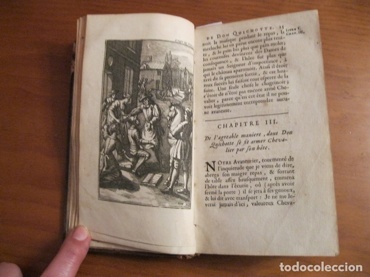 Libros antiguos: Histoire de l admirable Don Quichotte de la Manche, 1713. M. de Cervantes. Posee numerosos grabados - Foto 3 - 153443957