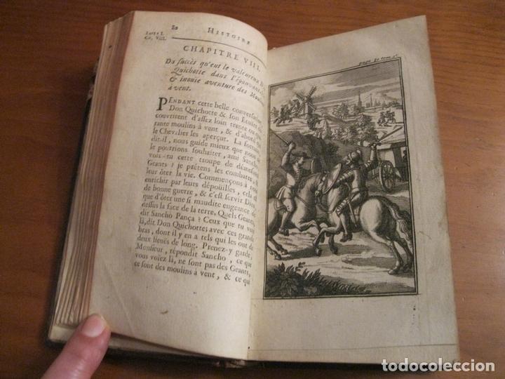 Libros antiguos: Histoire de l admirable Don Quichotte de la Manche, 1713. M. de Cervantes. Posee numerosos grabados - Foto 6 - 153443957