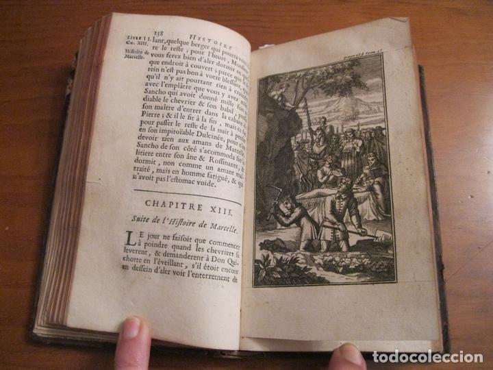 Libros antiguos: Histoire de l admirable Don Quichotte de la Manche, 1713. M. de Cervantes. Posee numerosos grabados - Foto 7 - 153443957