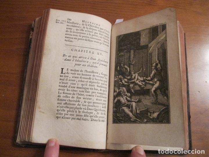 Libros antiguos: Histoire de l admirable Don Quichotte de la Manche, 1713. M. de Cervantes. Posee numerosos grabados - Foto 8 - 153443957