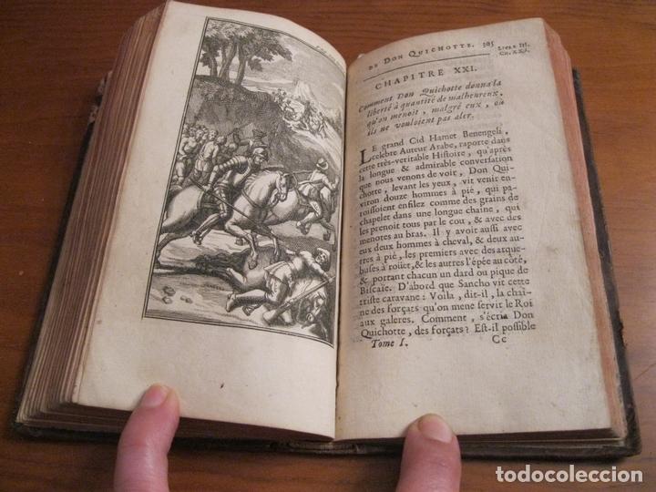Libros antiguos: Histoire de l admirable Don Quichotte de la Manche, 1713. M. de Cervantes. Posee numerosos grabados - Foto 11 - 153443957