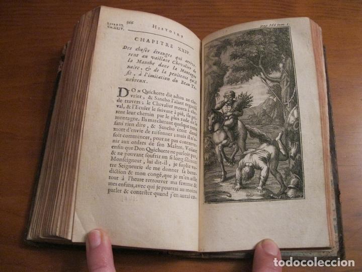 Libros antiguos: Histoire de l admirable Don Quichotte de la Manche, 1713. M. de Cervantes. Posee numerosos grabados - Foto 14 - 153443957