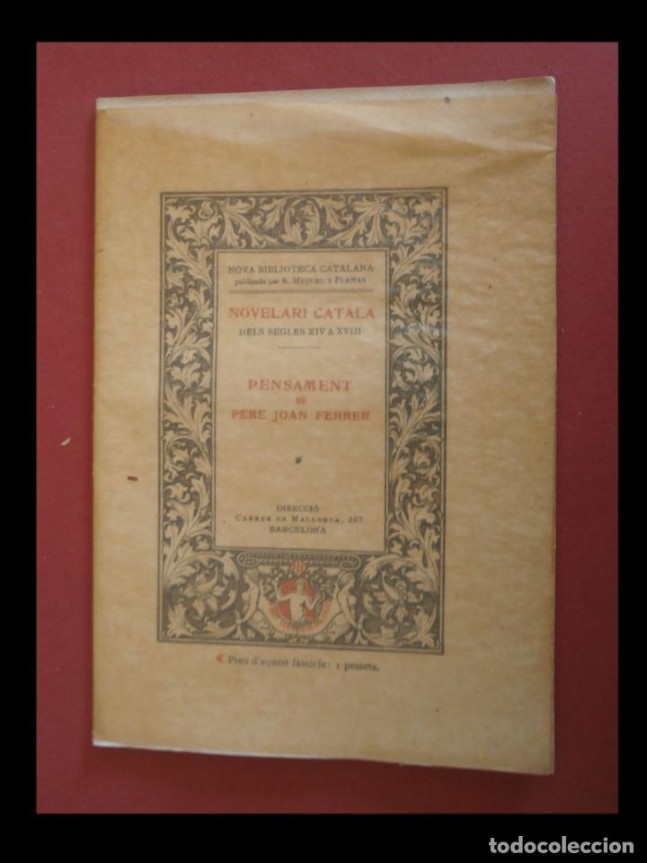 PENSAMENT DE PERE JOAN FERRER (Libros antiguos (hasta 1936), raros y curiosos - Literatura - Narrativa - Otros)