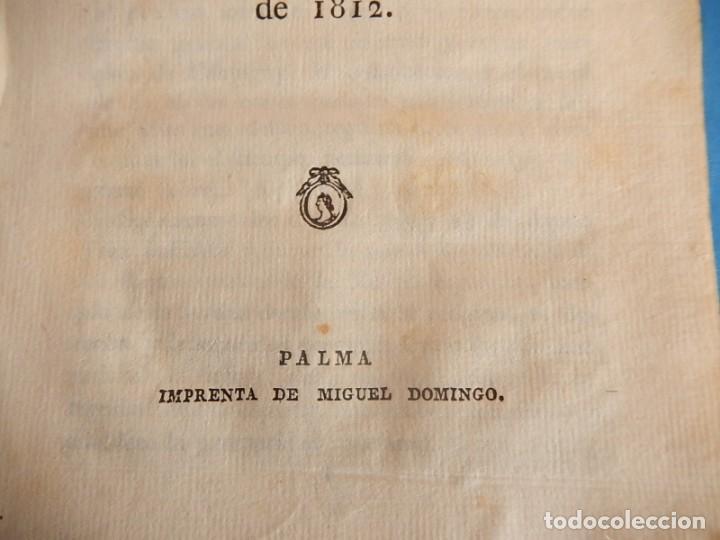 Libros antiguos: Publicación y Jura de la Constitución Política de la Monarquía Española. Palma. Baleares. 1812. - Foto 2 - 153477906