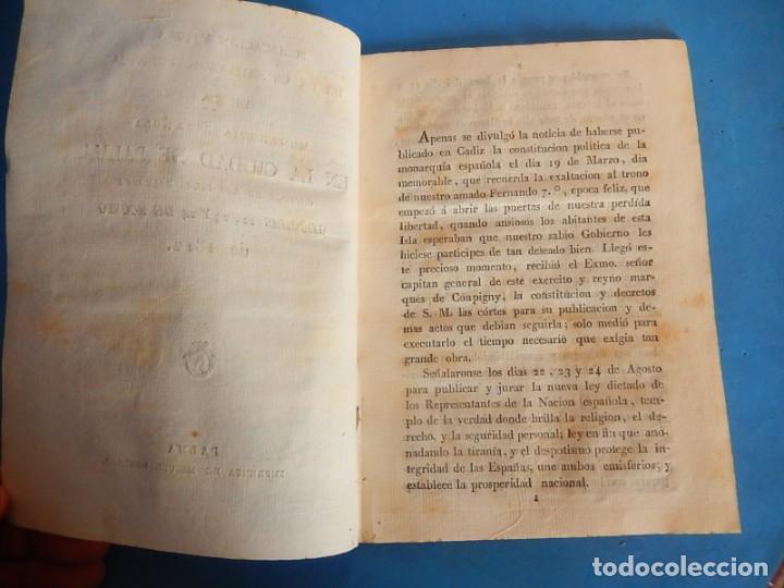 Libros antiguos: Publicación y Jura de la Constitución Política de la Monarquía Española. Palma. Baleares. 1812. - Foto 6 - 153477906