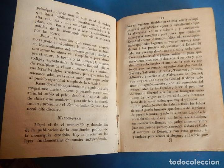 Libros antiguos: Publicación y Jura de la Constitución Política de la Monarquía Española. Palma. Baleares. 1812. - Foto 8 - 153477906