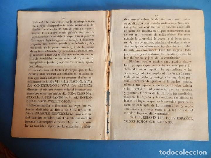 Libros antiguos: Publicación y Jura de la Constitución Política de la Monarquía Española. Palma. Baleares. 1812. - Foto 10 - 153477906