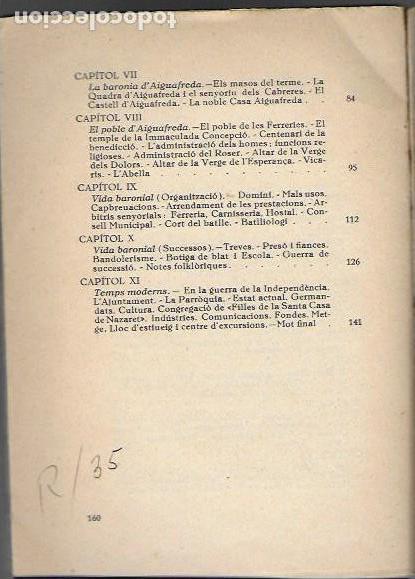 Libros antiguos: Aiguafreda. La parroquia antiga i el poble modern / Fortià Solà. BCN, 1932. 19x14cm. 160 p. + 4 p. f - Foto 3 - 153480658