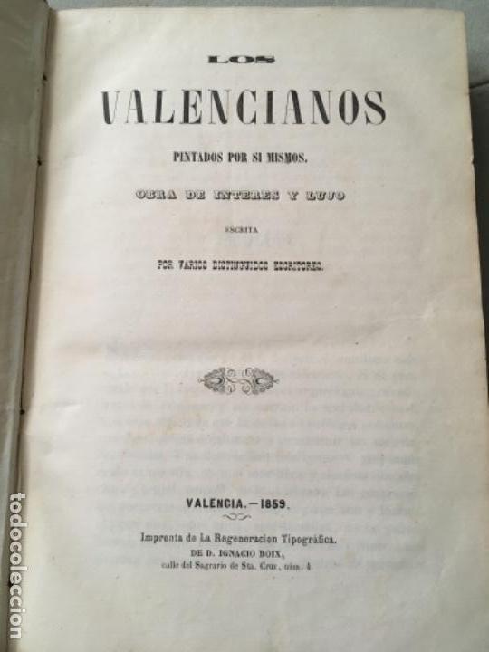 Libros antiguos: LOS VALENCIANOS PINTADOS POR SI MISMOS. VALENCIA 1859. - Foto 6 - 153538358