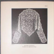 Libros antiguos: LEWIS MAY, FLORENCE: CATALOGUE OF LACES AND EMBROIDERIES (BORDADOS, ENCAJES) 1936. Lote 153569194