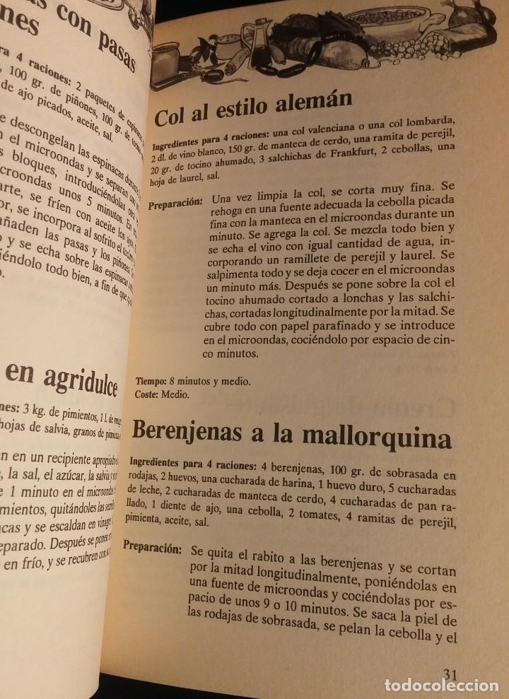 Libros antiguos: Cocinar con microondas. Jesús Laredo - Foto 4 - 153608302