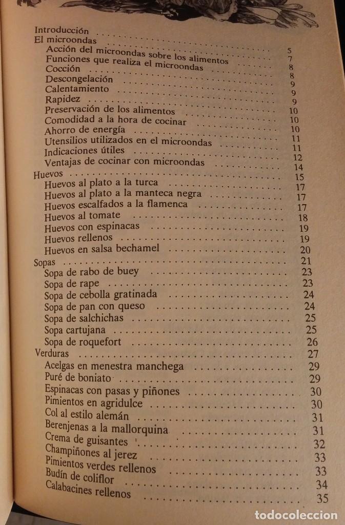 Libros antiguos: Cocinar con microondas. Jesús Laredo - Foto 5 - 153608302