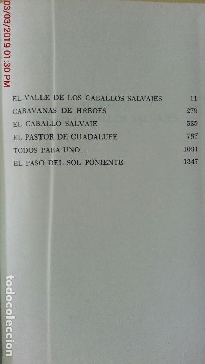 Libros antiguos: ZANE GREY - OBRAS COMPLETOS - TOMO V - NOVELAS - 1ª EDICIÓN - AÑO 1959 - Foto 5 - 148700794