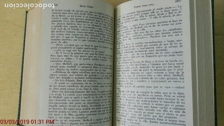 Libros antiguos: ZANE GREY - OBRAS COMPLETOS - TOMO V - NOVELAS - 1ª EDICIÓN - AÑO 1959 - Foto 8 - 148700794