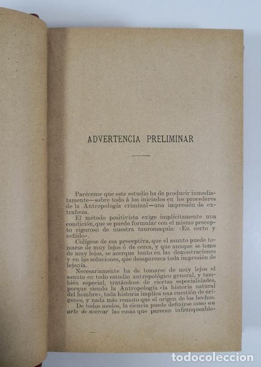 Libros antiguos: EL DELINCUENTE ESPAÑOL. HAMPA. RAFAEL SALILLAS. MADRID. 1898. - Foto 6 - 153658334