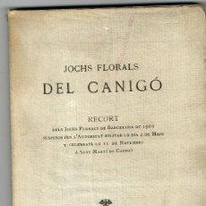 Libros antiguos: JOCHS FLORALS DEL CANIGÓ RECORT DELS DE BARCELONA DE 1902 SUSPESOS PER L'AUTORITAT MILITAR. Lote 153678090