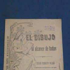 Libros antiguos: EL DIBUJO AL ALCANCE DE TODOS X JUAN FERRER N°3. Lote 153728530