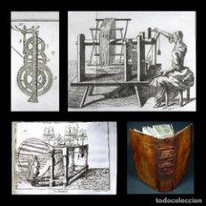 Libros antiguos: AÑO 1755 MAQUINARIA FABRICACIÓN TEXTIL 30 GRABADOS ESPECTÁCULO DE LA NATURALEZA PLUCHE PARÍS. Lote 153743714
