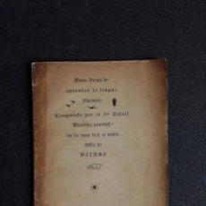 Libros antiguos: MICOLETA. MODO BREVE DE APRENDER LA LENGUA VIZCAÍNA. 2ª EDICIÓN DE ESTE LIBRO DEL XVII. EUSKERA.. Lote 153787646