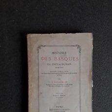 Libros antiguos: BAUDRIMONT. HISTOIRE DES BASQUES. HISTORIA VASCA. EUSKERA. LENGUA VASCA.. Lote 153788110