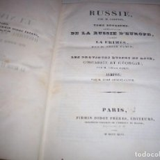 Libros antiguos: RUSSIE PAR M. CHOPPIN. TOMO 2. EDICION FIRMIN DIDOT FRERES 1846. FRANCIA. IDIOMA FRANCES. COTIZADO.. Lote 153874966