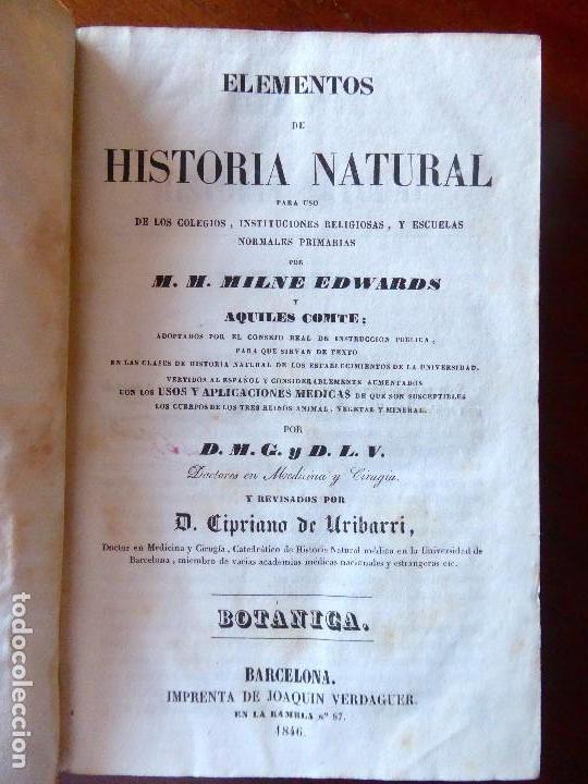 Libros antiguos: L-5269. ELEMENTOS DE HISTORIA NATURAL. MILNE EDWARDS Y AQUILES COMTE. 3 TOMOS. BARCELONA AÑO 1846. - Foto 12 - 154007630