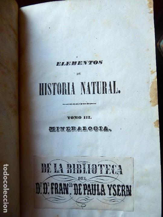 Libros antiguos: L-5269. ELEMENTOS DE HISTORIA NATURAL. MILNE EDWARDS Y AQUILES COMTE. 3 TOMOS. BARCELONA AÑO 1846. - Foto 19 - 154007630
