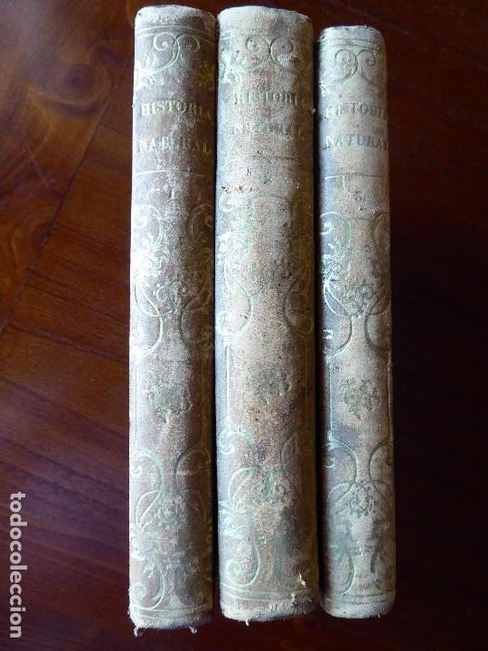 L-5269. ELEMENTOS DE HISTORIA NATURAL. MILNE EDWARDS Y AQUILES COMTE. 3 TOMOS. BARCELONA AÑO 1846. (Libros Antiguos, Raros y Curiosos - Ciencias, Manuales y Oficios - Otros)