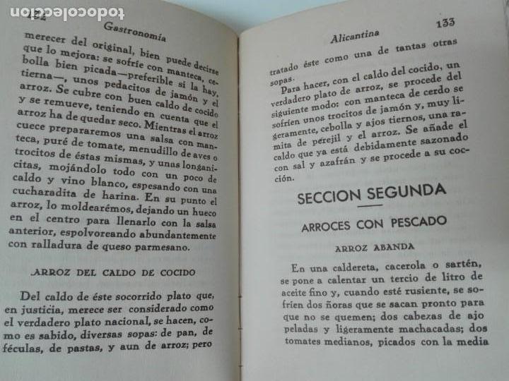 Alte Bücher: GASTRONOMIA ALICANTINA GUARDIOLA ORTIZ FIRMADO POR EL AUTOR MUY RARO - Foto 10 - 154008294