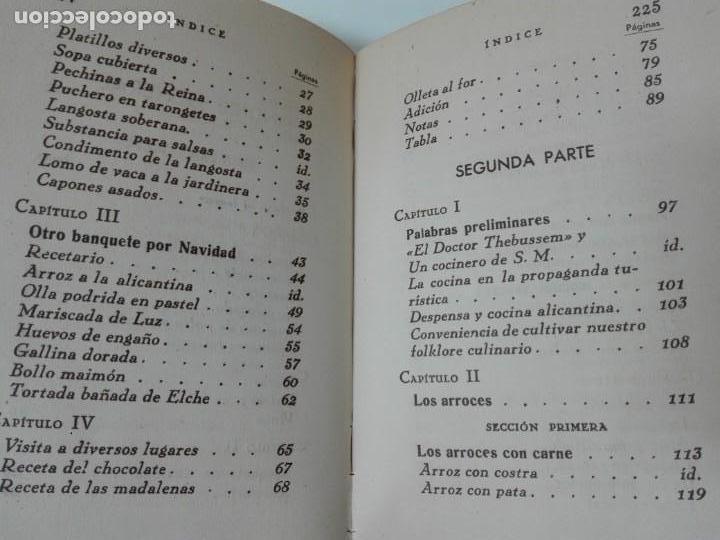 Alte Bücher: GASTRONOMIA ALICANTINA GUARDIOLA ORTIZ FIRMADO POR EL AUTOR MUY RARO - Foto 11 - 154008294