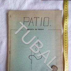 Libri antichi: TUBAL PATIO 0 REVISTA DE POESIA SEVILLA 1977 ANTONIIO FUENTES REYES ALEJANDRO DE VEGA. Lote 154026282
