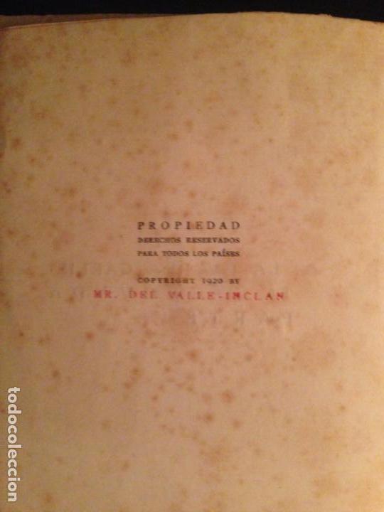 Libros antiguos: LA GUERRA CARLISTA. EL RESPLANDOR DE LA HOGUERA - RAMON DEL VALLE-INCLAN, 1920 - Foto 4 - 154033998