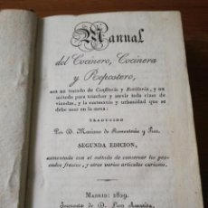 Libros antiguos: MANUAL DEL COCINERO, COCINERA Y REPOSTERO. MADRID. 1829. Lote 154127882