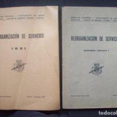 Libros antiguos: REORGANIZACION SERVICIOS 1932 - 1934 , AYUNTAMIENTO MADRID. SEGUNDA REPUBLICA ESPAÑOLA. Lote 154185154