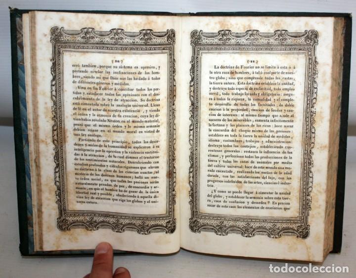 Libros antiguos: EXPLANACION DEL SISTEMA SOCIETARIO-CARLOS FOURIER-1841. - Foto 7 - 154209402
