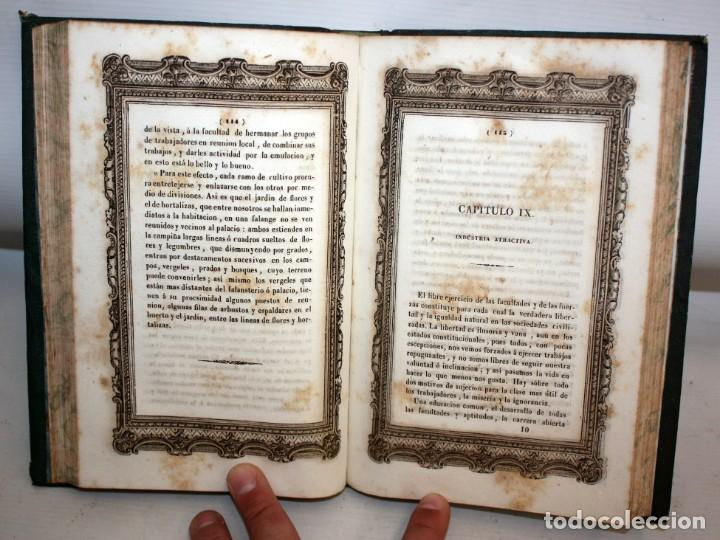 Libros antiguos: EXPLANACION DEL SISTEMA SOCIETARIO-CARLOS FOURIER-1841. - Foto 9 - 154209402