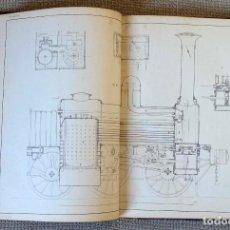 Libros antiguos: MANUAL DE CERRAJERÍA. ATLAS. LÁMINAS GRUAS, TREN, CALDERAS... SIGLO XIX. Lote 154235334